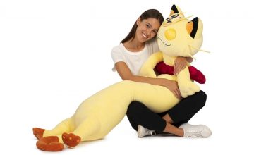 This 5-foot long Meowth plushie is the only Valentine I need, TBH