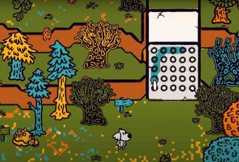 This adventure game lets you paint everything like a coloring book