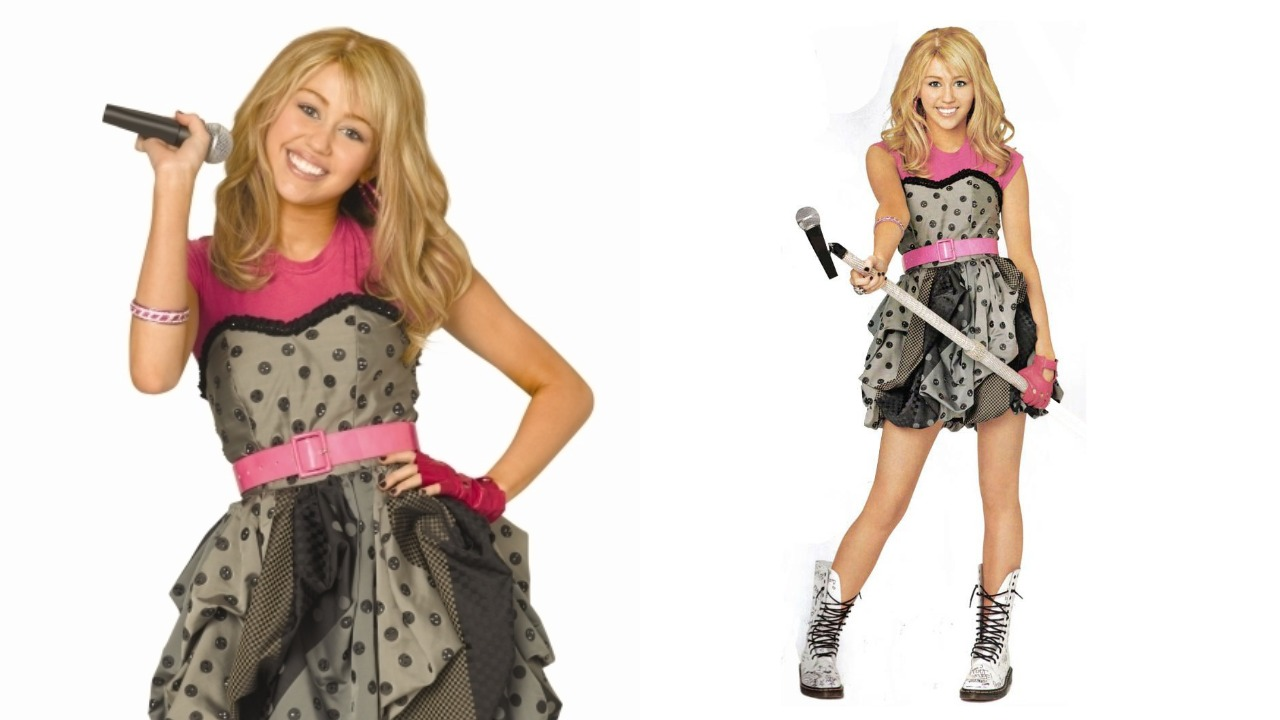 Two photos of Hannah Montana
