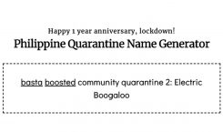 Baptize your community quarantine with this weird generator
