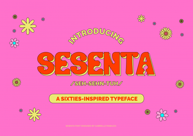 This free font is inspired by the '60s flower power movement