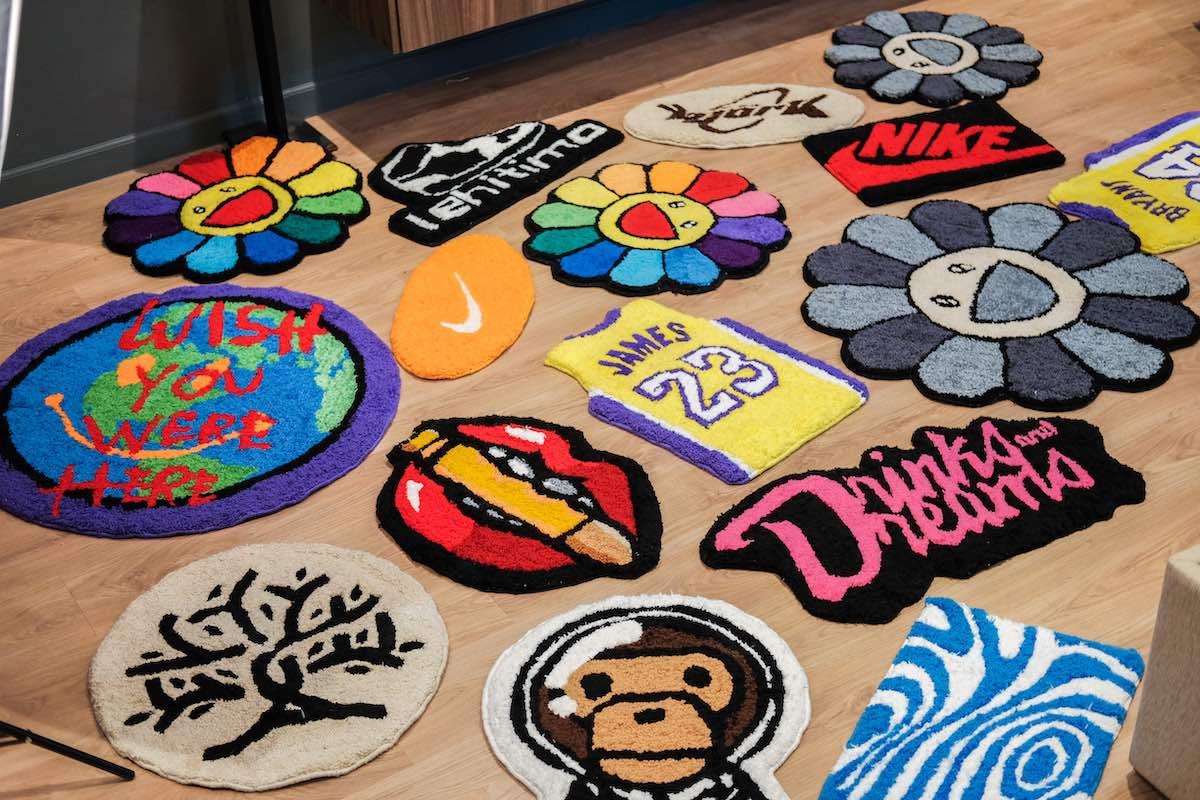 A photo of Zeno's rugs across the floor