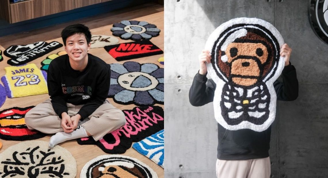 The next streetwear trend? Rugs. Just ask this 14-year-old artist