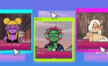 An 8bit Picrew generates our supernatural selves in a dating app