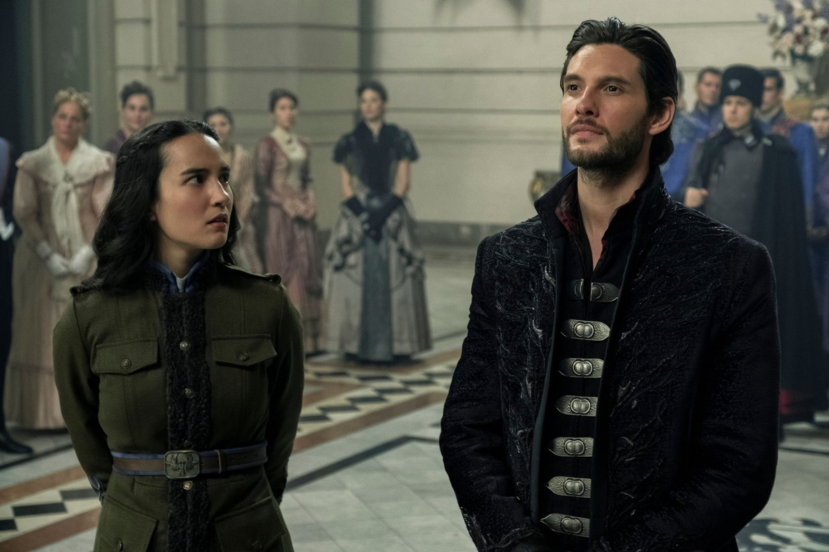 "Jessie Mei Li as Alina Starkov and Ben Barnes as The Darkling/General Kirigan in ""Shadow and Bone"""