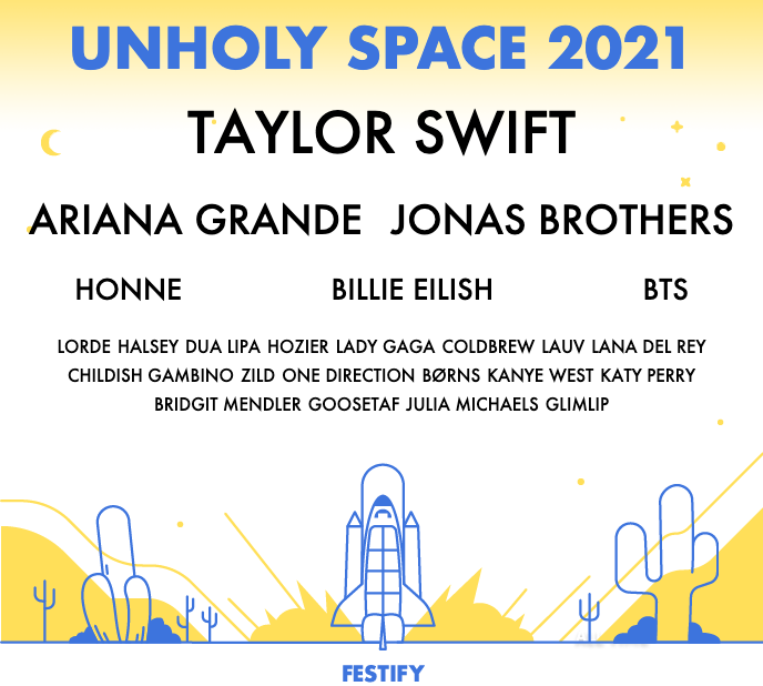 Festify poster featuring a user's top Spotify artists
