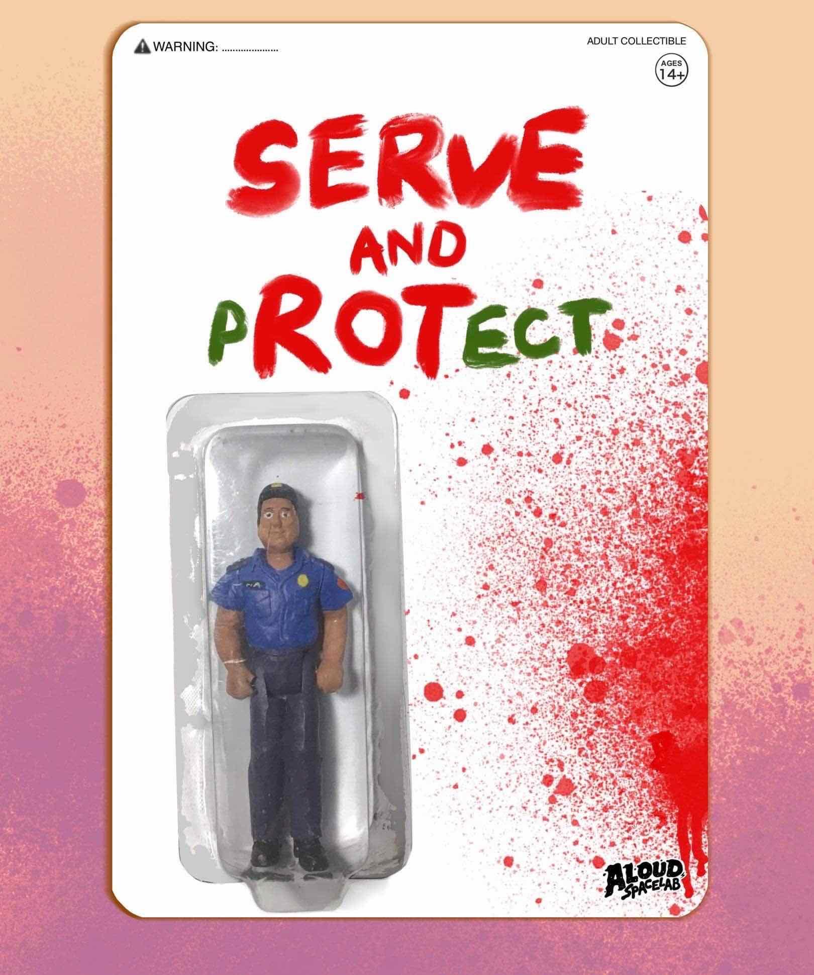 """Serve and Protect"" figurine"