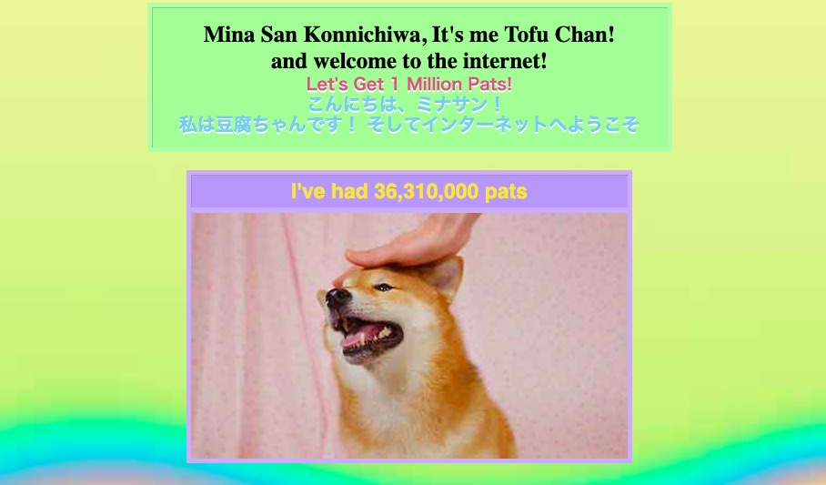This site lets you virtually pet the goodest boi™ Tofu Chan