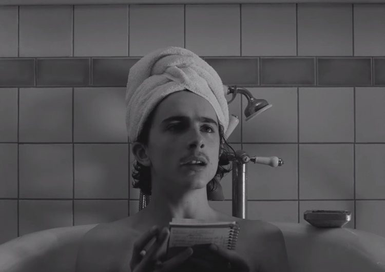 Behold, Timothée Chalamet takes a bath in this 'The French Dispatch' clip