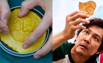 A cafe is letting customers play 'Squid Game's' Honeycomb Challenge IRL