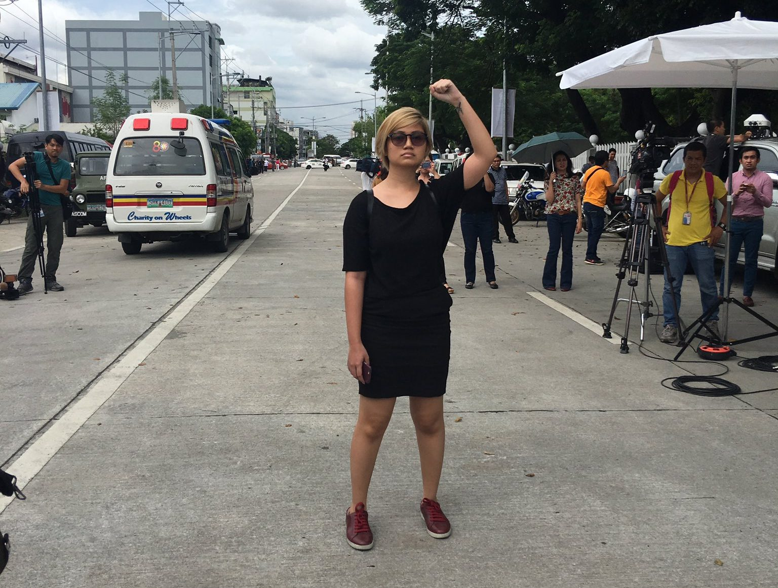 Meet The Girl Who Protested The Ninja Marcos Burial Solo This Morning