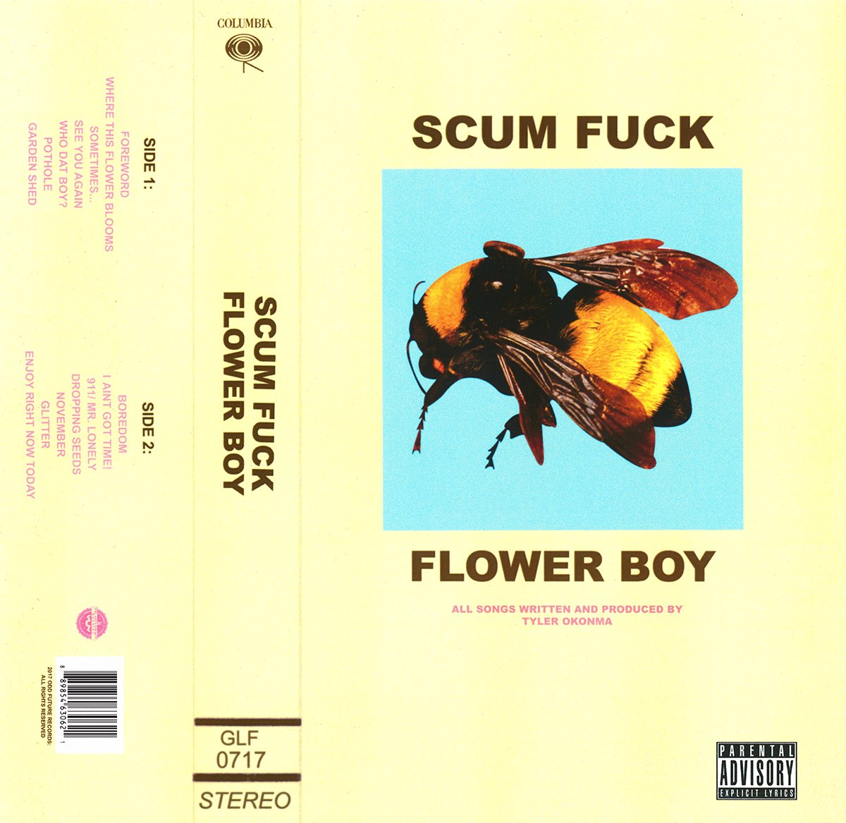 Tyler, the Creator's forthcoming album 'Scum Fuck Flower Boy'  leaked on the Internet