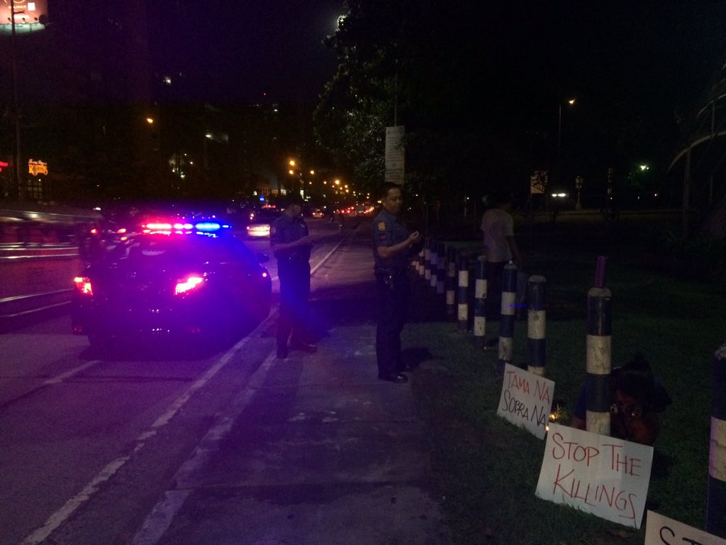Why were police asking for names in an ADMU anti-EJK rally?