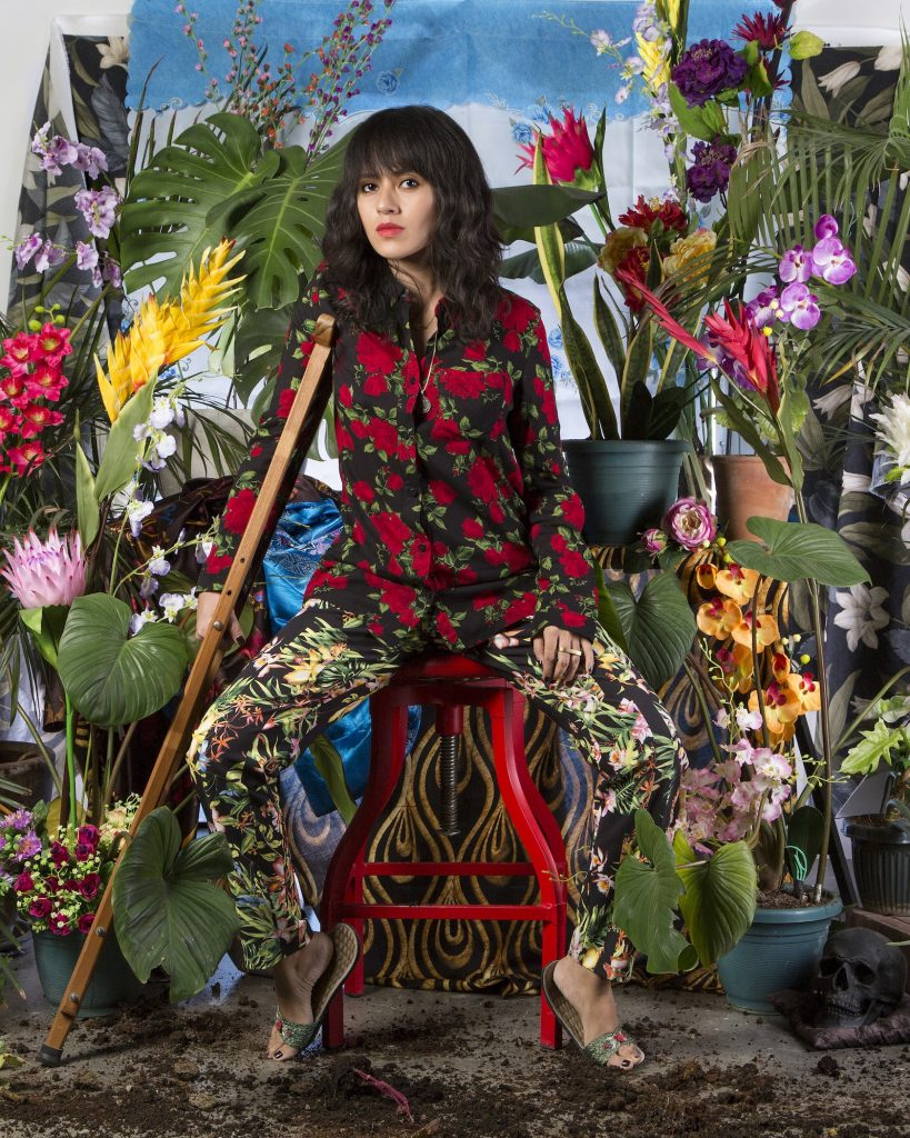 silverlens_i-want-to-live-a-thousand-more-years-self-portrait-after-dengue-with-tropical-plants-and-fake-flowers_wawi-navarroza