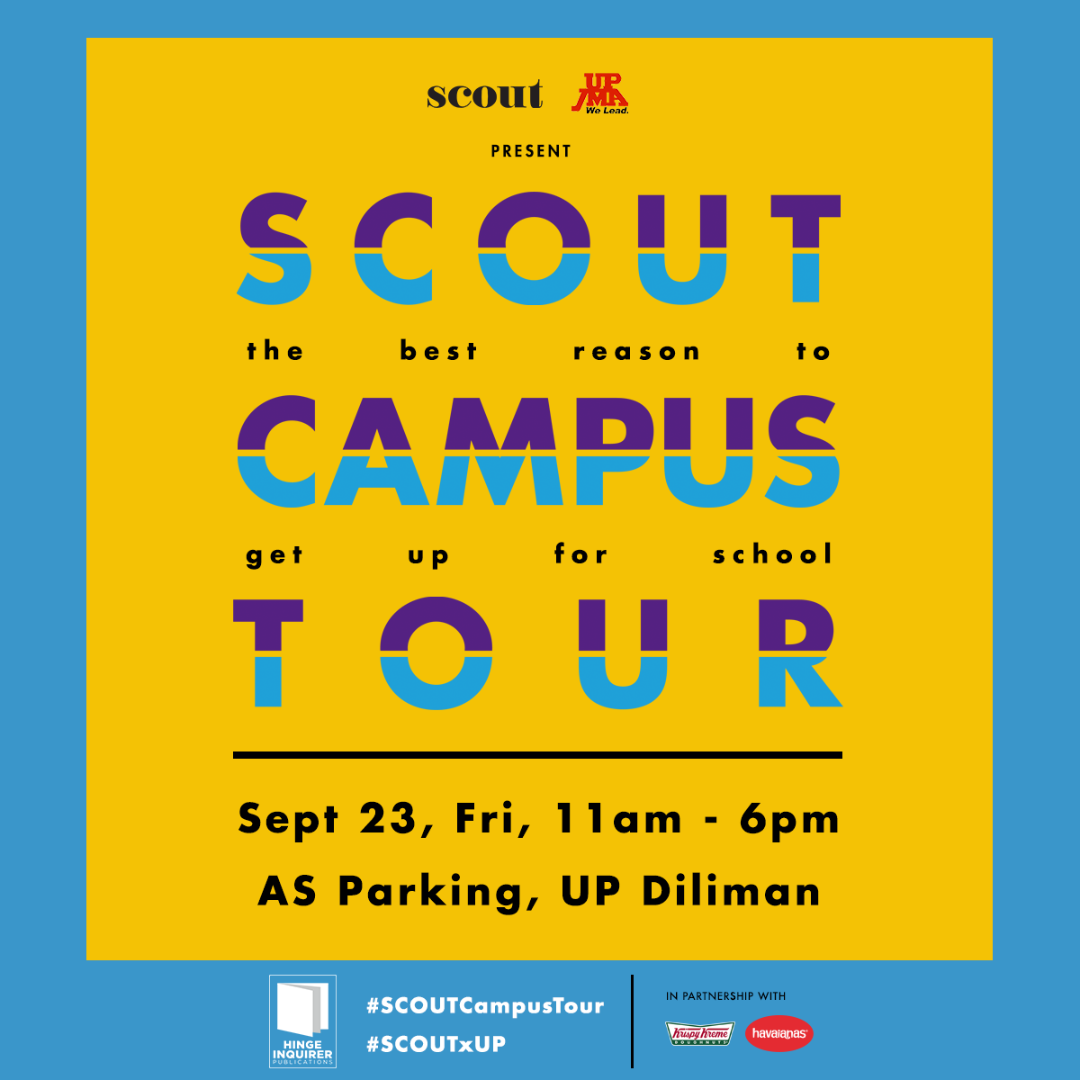 What You Can Expect At This Year's Scout x UP Campus Tour