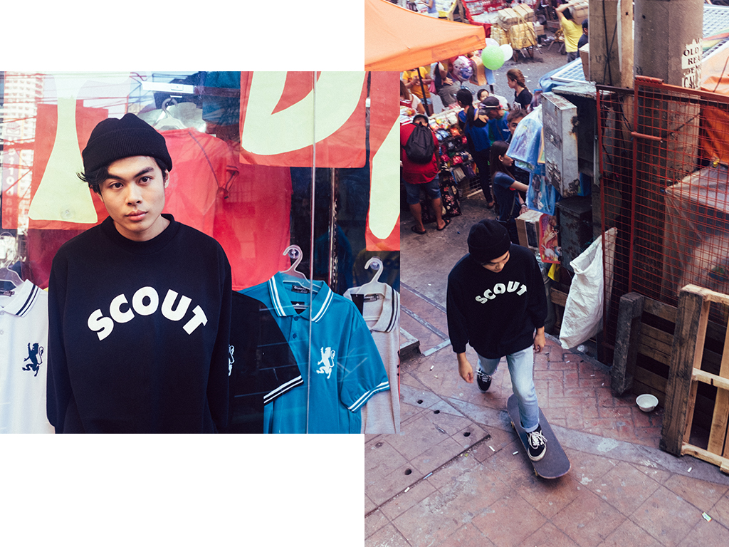SCOUT LOGO RETRO COLLEGIATE SWEATER (BLACK)