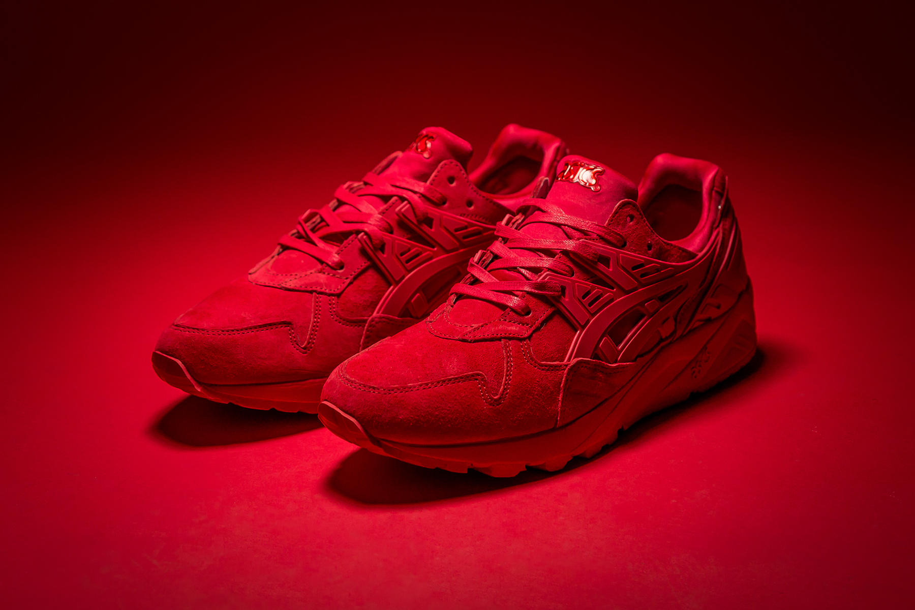 ASICS Gel Kayano Trainer Triple Red   Shoes   Asics, Red