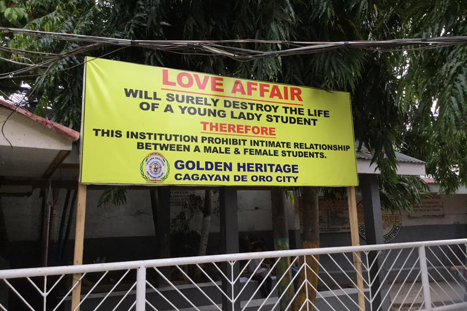 This College In Cagayan De Oro Forbids Love, Because Reasons