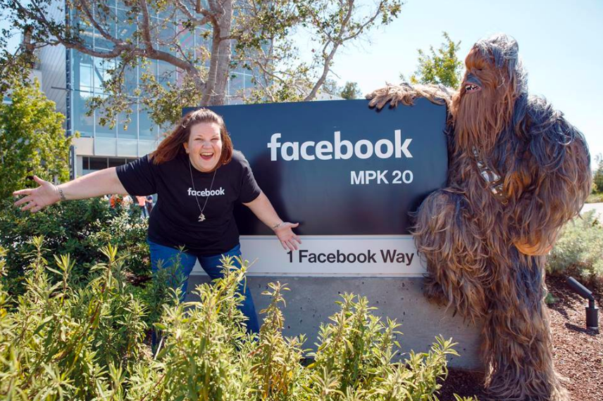 Chewbacca Lady Goes To Facebook HQ, Meets A Chewbacca