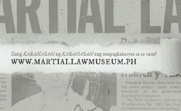 In case you weren't born then, there's a Martial Law Museum now