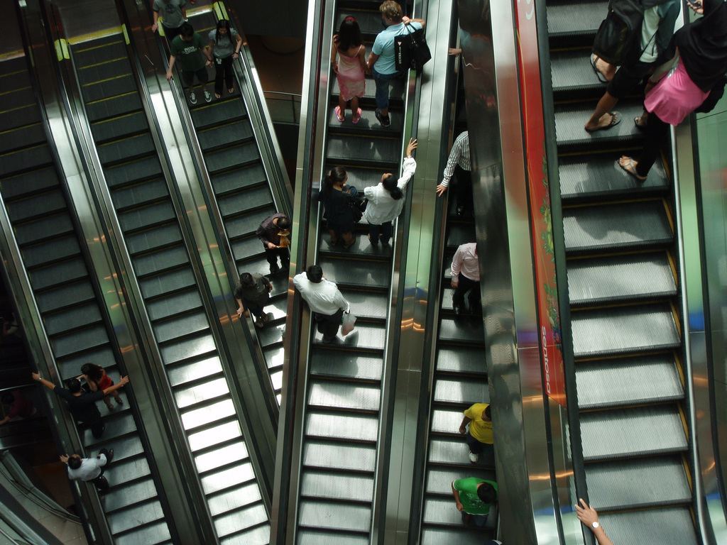 Escalator Etiquette Is Tricky Business