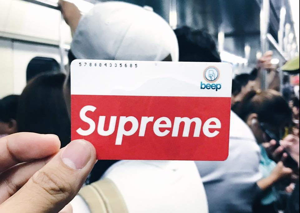Someone's Selling Beep Cards With The Supreme Logo
